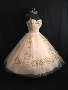 Pink and Gold Vintage Dress
