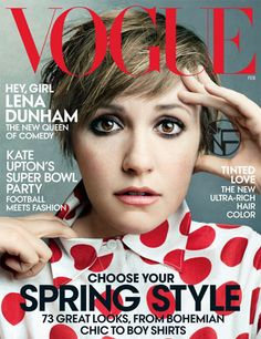 Lena Dunham in Vogue Cover Latest Issue