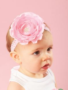Mud Pie Jeweled Flower Soft Headband-mud pie, headband, girl, infant, toddler, trendy, baby boutique, jeweled flower soft headband