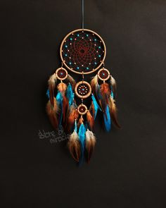 Dream catcher Dreamcatcher American mascots Indian talisman light blue color by StoreMiracles on Etsy https://www.etsy.com/au/listing/294791751/dream-catcher-dreamcatcher-american