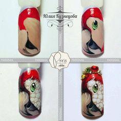 Nails University. Ногти и Маникюр пошагово. Animal Nail Designs, Orange Nail Designs, Animal Nail Art, Toe Nail Designs, Painted Nail Art, Acrylic Nail Art, Toe Nail Art, Pale Nails, Nailart