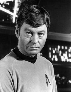 DeForest Kelley as Dr. McCoy from Star Trek