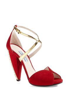 Prada Crystal Heel Sandal | Nordstrom