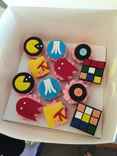 80s theme cupcakes 80s Theme, Themed Cupcakes, Cake Creations
