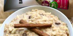 Feherjés almás pite ízű zabkasa Izu, Oatmeal, Vegan, Breakfast, Free, The Oatmeal, Morning Coffee, Rolled Oats, Vegans