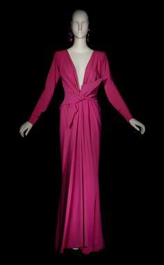 Evening dress | Yves Saint Laurent | Haute Couture Spring 1985 | Madrid exhibition, 2002