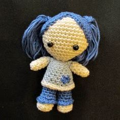 OMG! This doll is so cute. You can download the pattern as a PDF file  for free on the kNotArt website .