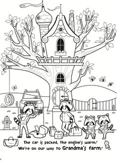 storyland the marvelous mccrittersons road trip to grandmas a story coloring book