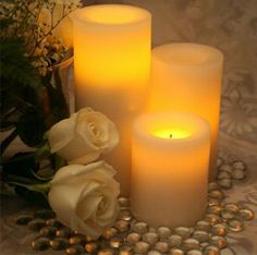 """Candle Impressions 8"""" Flameless Cream Pillar w/Timer Vanilla Scent Candle Impressions,http://www.amazon.com/dp/B00AG4AJZQ/ref=cm_sw_r_pi_dp_n20htb10AD5MCJXY"""