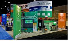 Paradigm's tradeshow booth for SEG