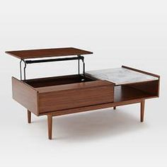 Shop mid-century pop-up storage coffee table – walnut from west elm. Find a wide selection of furniture and decor options that will suit your tastes, including a variety of mid-century pop-up storage coffee table – walnut. Oversized Furniture, Small Furniture, Living Furniture, Modern Furniture, Home Furniture, Multifunctional Furniture, Apartment Furniture, Apartment Ideas, Office Furniture
