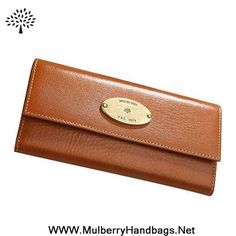 Cheap Womens Mulberry Classic Contential Purse Light Coffee Fast Shipping