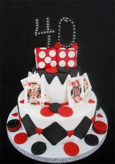 Casino Night Cake