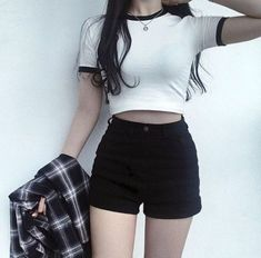 Korean fashion styles 819232988450803742 - Latest Korean Women's clothes Hacks 2944442262 – – Source by Casual Outfits For Teens, Komplette Outfits, Grunge Outfits, Short Outfits, Casual Dresses, Fashion Outfits, Autumn Outfits For Teen Girls, Teenager Fashion Trends, Korean Fashion Trends
