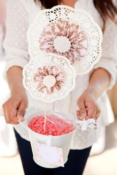 Crafting with doilies
