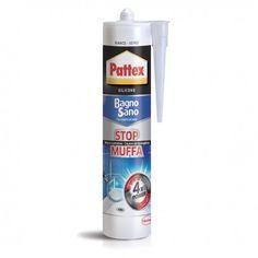 Pattex Bagno Sano Stop Muffa Silicone colore Bianco cartuccia ml 300 Henkel