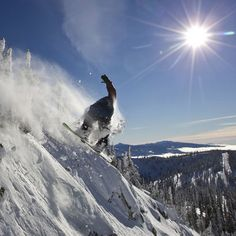 There are no friends on a powder day. #redbull #snowboarding