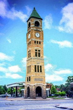 The Neenah, Wisconsin, clocktower and city hall were built in 1888. The clocktower is all that remains. The building is in the Romanesque Revival style. It stands at 110 feet tall.