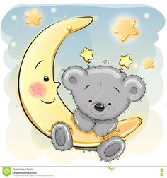 Teddy Bear On The Moon - Download From Over 49 Million High Quality Stock Photos, Images, Vectors. Sign up for FREE today. Image: 71858811