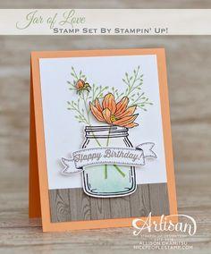 nice people STAMP!: Jar of Love Birthday Card: World Card Making Day Blog Hop by Canadian Stampin' Up! Demonstrator Allison Okamitsu. www.NicePeopleStamp.com