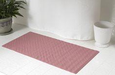 Textured Rubber Bath Tub Or Floor Mat, Rose Pink Bathtub Mat, Bath Tub,