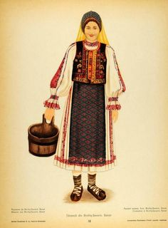 Traditional Dresses, Traditional Art, Folk Costume, Costumes, Folk Embroidery, Medieval Clothing, Free Black, 1 Decembrie, San Jose