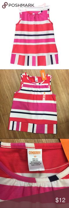 Gymboree Pink Poppy Striped Sleeveless Top NEW NWT Gymboree Pink Poppy Striped Sleeveless Top NEW NWT 10  * 100% cotton jersey * Allover stripe * Ruching detail at neckline * Machine wash; imported * Collection Name: Ciao Puppy #ciaopuppy #stripe #pink #tank #tanksalot #navy #cream #new #nwt #tanktop Gymboree Shirts & Tops Tank Tops