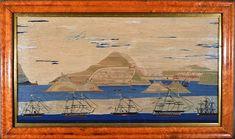 Inventory | Earle D. Vandekar of Knightsbridge Inc. Royal Navy Frigates, Merchant Navy, Royal Marines, Victoria And Albert, Navy Ships, Old And New, 19th Century, Folk Art, Sailor