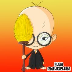 Caricatures, Chibi, Mickey Mouse, Disney Characters, Fictional Characters, Harry Potter, Cartoon, Flowers, Baby