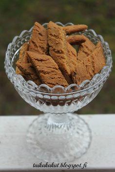 Hei!   Tein ihania wilhelmiina-keksejä. Ohjeen löysin Kermaruusulta täältä . Ohjeessa oli käytetty muscovadosokeria joka antoi kekseihin ih... Sweet Little Things, Pastry Cake, Holiday Desserts, Cookie Jars, Biscotti, Yams, Food Inspiration, Gingerbread, Food And Drink