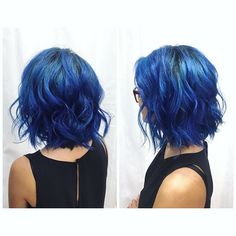 Got the Monday blues? Surely this blue will lighten your mood!  Follow this mood lifter 👉🏼@journeywithjasea to see their amazing journeys through Disney and life #bluehair #joico #olaplex @olaplex #sandiegocolorist #pinteresthair #bob #longbob #waves #beachyhair #rootedhair #salonforwomen #salonlife #btc #behindthechair #modernsalon  @unumdesign #unum #mondaze #monday