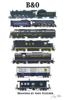 """The Baltimore & Ohio is key to railroad history- Its slogan """"Linking 13 Great States with the Nation"""""""