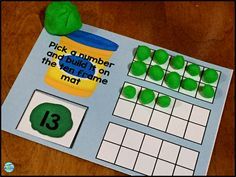 Use play doh in the classroom to teach foundational math skills.