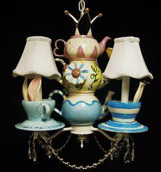Alice in Wonderland Tea Party Chandelier