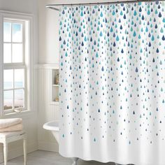Rainy Days Shower Curtain in Aqua
