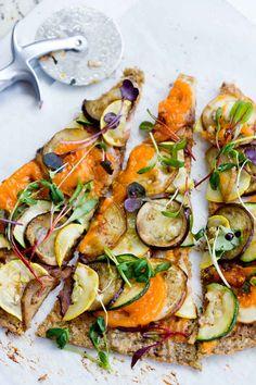 Market Mediterranean Pizza | 29 Tasty Vegetarian Paleo Recipes #vegetarian #recipes #food #recipe #healthy