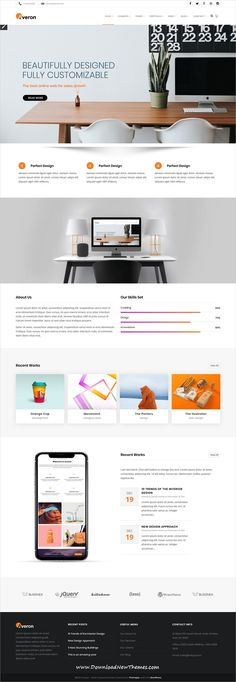 Averon is clean and modern design responsive multipurpose #WordPress #theme for creative #business agencies website with 21+ niche homepage layouts to download & live preview click on image or Visit #weblayouts