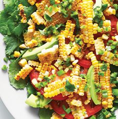 Our Grilled Corn Salad is topped with a jalapeno-cilantro-lime vinaigrette, but feel free to drizzle on your favorite dressing.