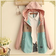 Buy 'Fairyland – Color Block Hooded Jacket' with Free International Shipping at YesStyle.com. Browse and shop for thousands of Asian fashion items from China and more!
