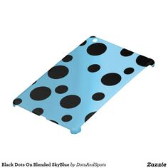 Black Dots On Blended SkyBlue iPad Mini Cover