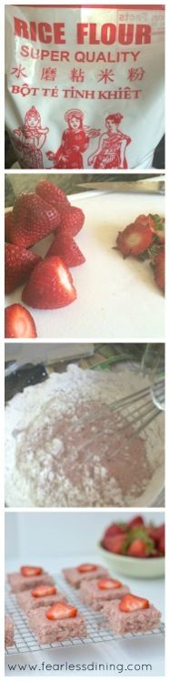 Strawberry Mochi  http://www.fearlessdining.com #mochi