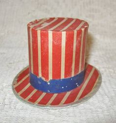 Uncle Sam Patriotic Americana Top Hat Candy Container