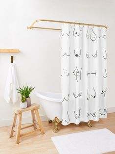 This is a perfect boobs shower curtain bathroom decor choice! Also great if you are looking for girlie bathroom ideas, up to 90 inch. Because of it's minimalistic style, it's perfect for teen bathroom ideas. If you are interested in fresh bathroom ideas, this will fit right into your all white bathroom Bohemian Shower Curtain, Extra Long Shower Curtain, Shower Curtain Sets, Funny Shower Curtains, Custom Shower Curtains, Bathroom Shower Curtains, Teen Bathrooms, Upstairs Bathrooms, White Bathroom Decor