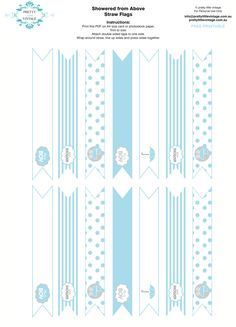 free printables   Free printable baby shower party straw toppers via Kara's Party Ideas ...