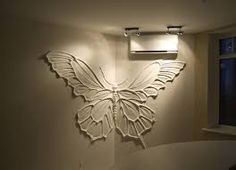 Butterfly relief work wall art. Imagine painting it! Resultado de imagem para барельеф