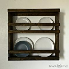 This designer-inspired plate rack is part of a modular set, or it can be used alone. Get the free DIY plans from @coreydecker at buildsomething.com
