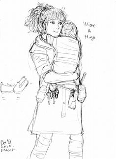 Hermione and Baby, by Wacca