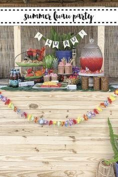 Host a tropical luau party to celebrate the summer with tips from Everyday Party Magazine #sponsored #OrientalTrading #OTCLovesSummer @orientaltrading