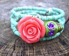 The Original Day of the Dead Bracelet 3 by donnaelizabethdesign, $23.99