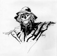 Bret Blevins Scarecrow of Romney Marsh, in DianaGreen's Diana's Originals Comic Art Gallery Room